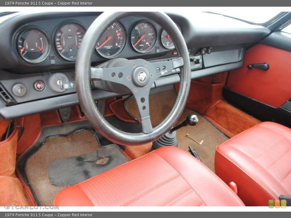 Copper Red 1974 Porsche 911 Interiors