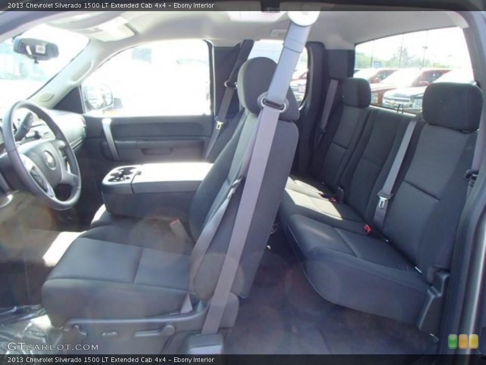 Ebony Interior Photo for the 2013 Chevrolet Silverado 1500 LT Extended Cab 4x4 #81167319