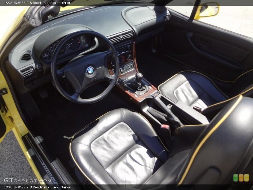 Black Interior Prime Interior for the 1998 BMW Z3 2.8 Roadster #81219438
