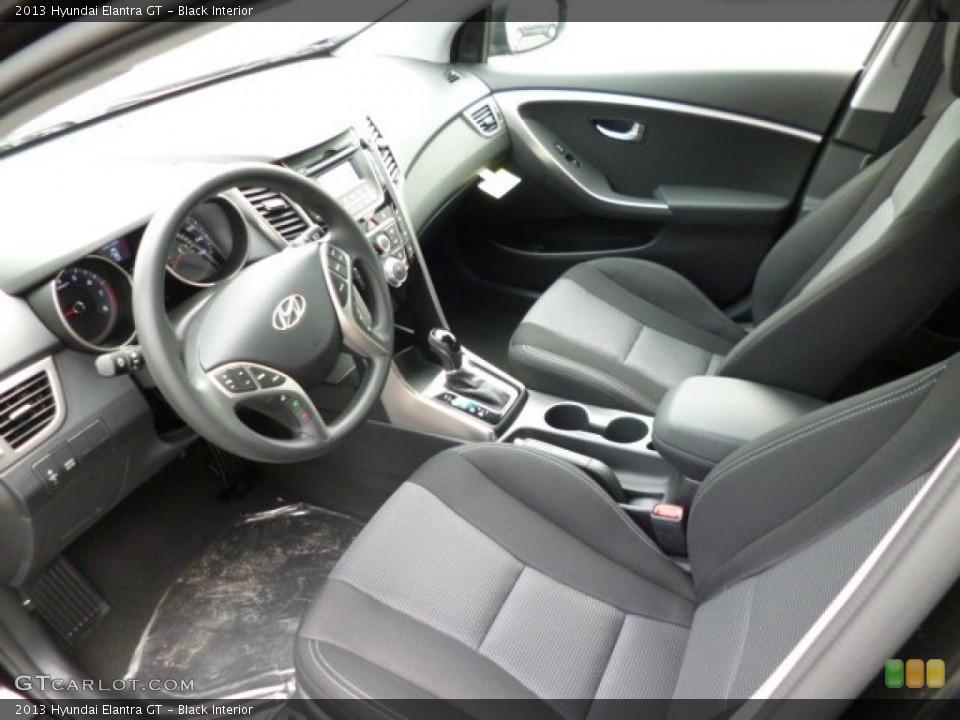 Black 2013 Hyundai Elantra Interiors