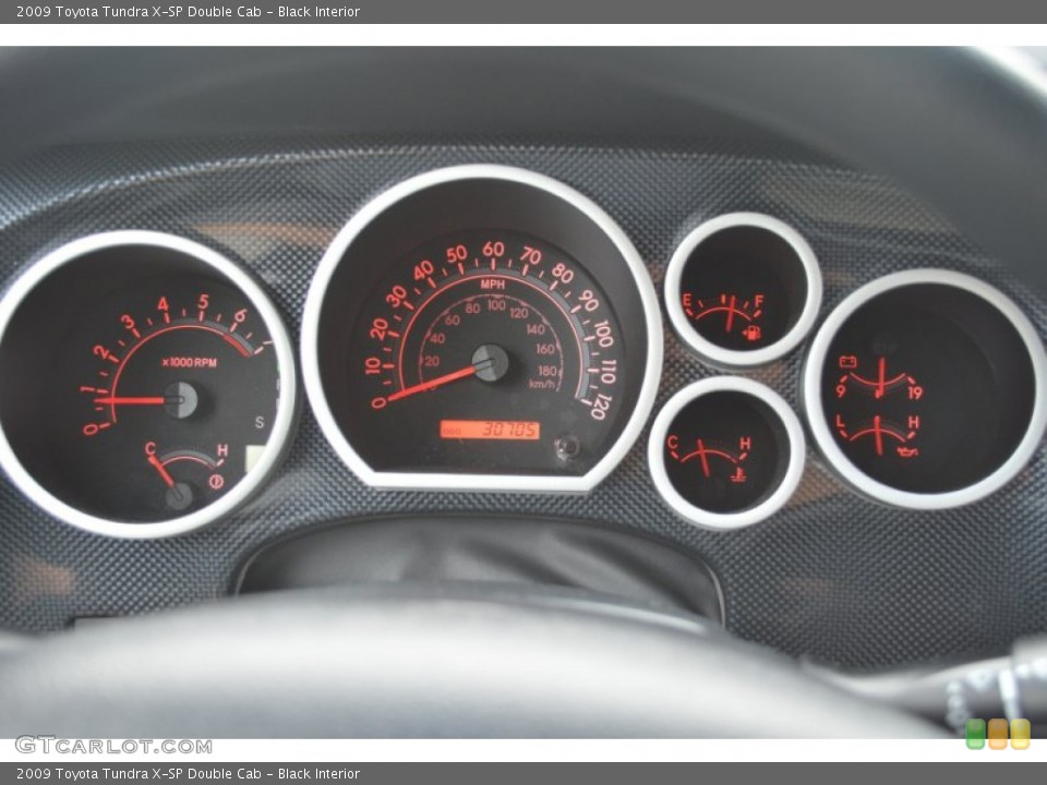 Black Interior Gauges for the 2009 Toyota Tundra X-SP Double Cab #81284548