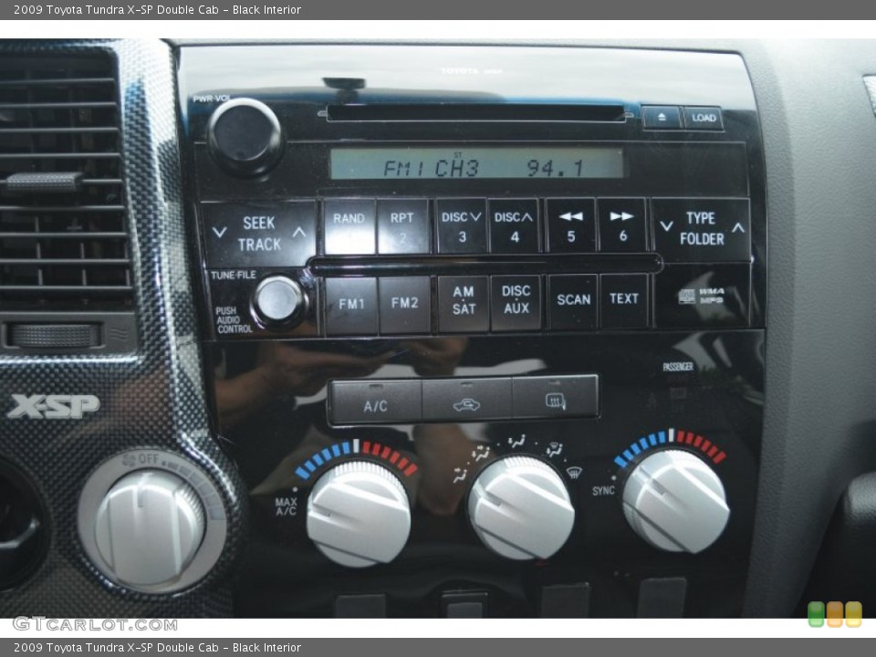 Black Interior Controls for the 2009 Toyota Tundra X-SP Double Cab #81284557