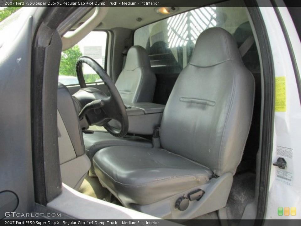 Medium Flint 2007 Ford F550 Super Duty Interiors