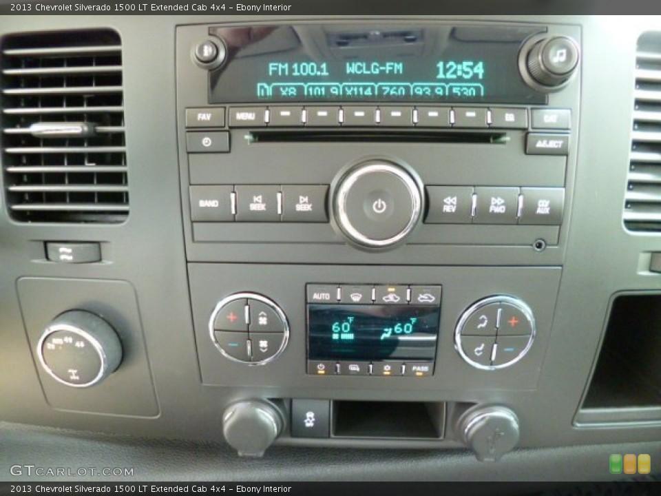 Ebony Interior Controls for the 2013 Chevrolet Silverado 1500 LT Extended Cab 4x4 #81336974