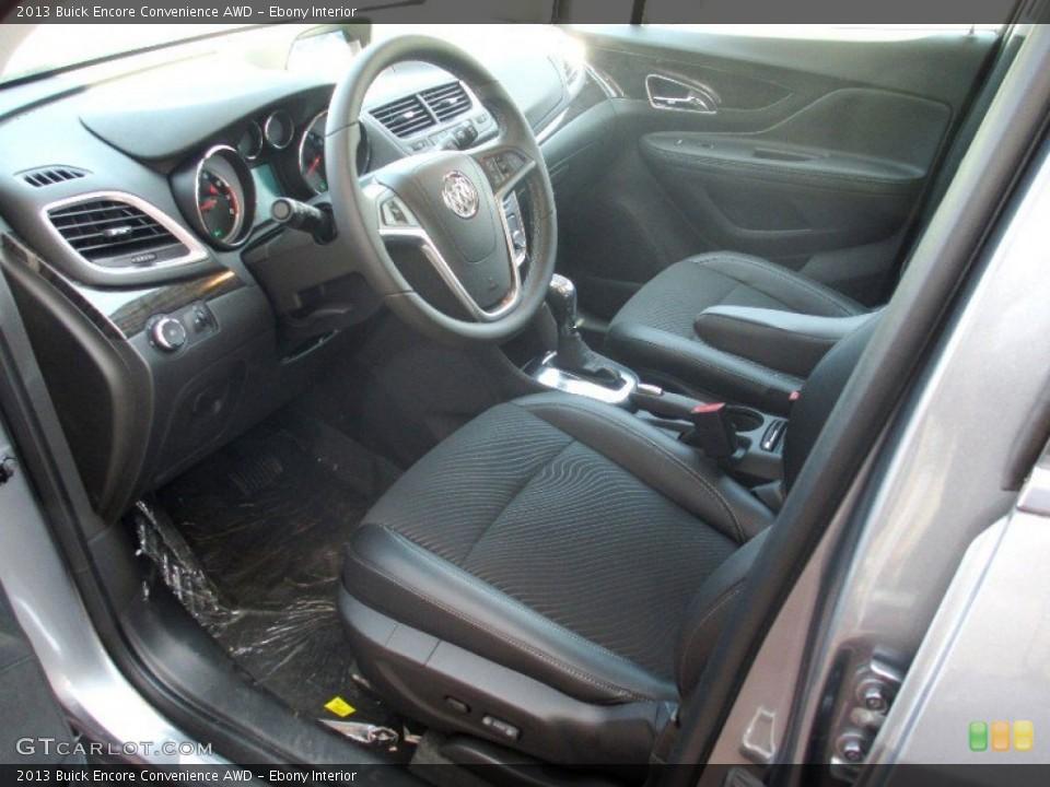 Ebony 2013 Buick Encore Interiors