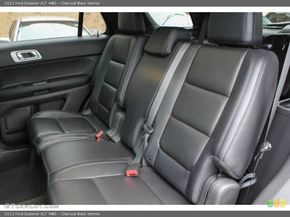 Charcoal Black Interior Rear Seat for the 2011 Ford Explorer XLT 4WD #81385125