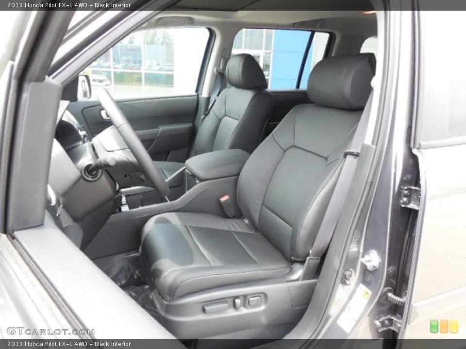 Black Interior Front Seat for the 2013 Honda Pilot EX-L 4WD #81400547