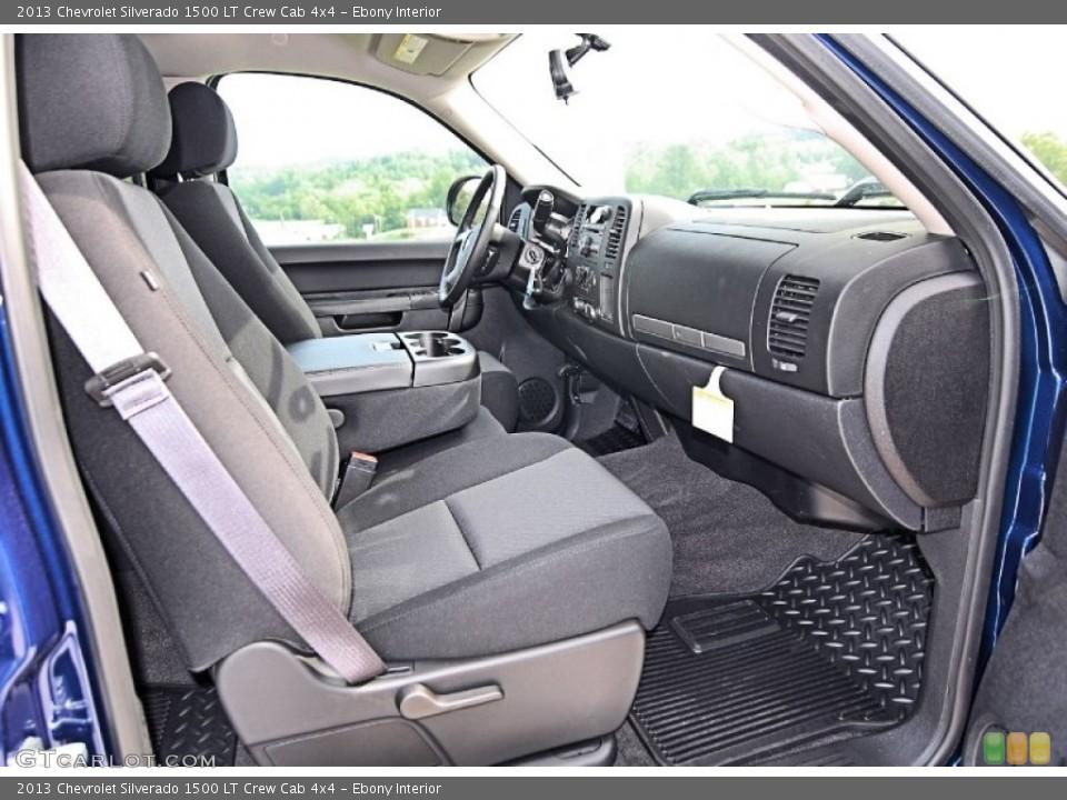 Ebony Interior Photo for the 2013 Chevrolet Silverado 1500 LT Crew Cab 4x4 #81556464