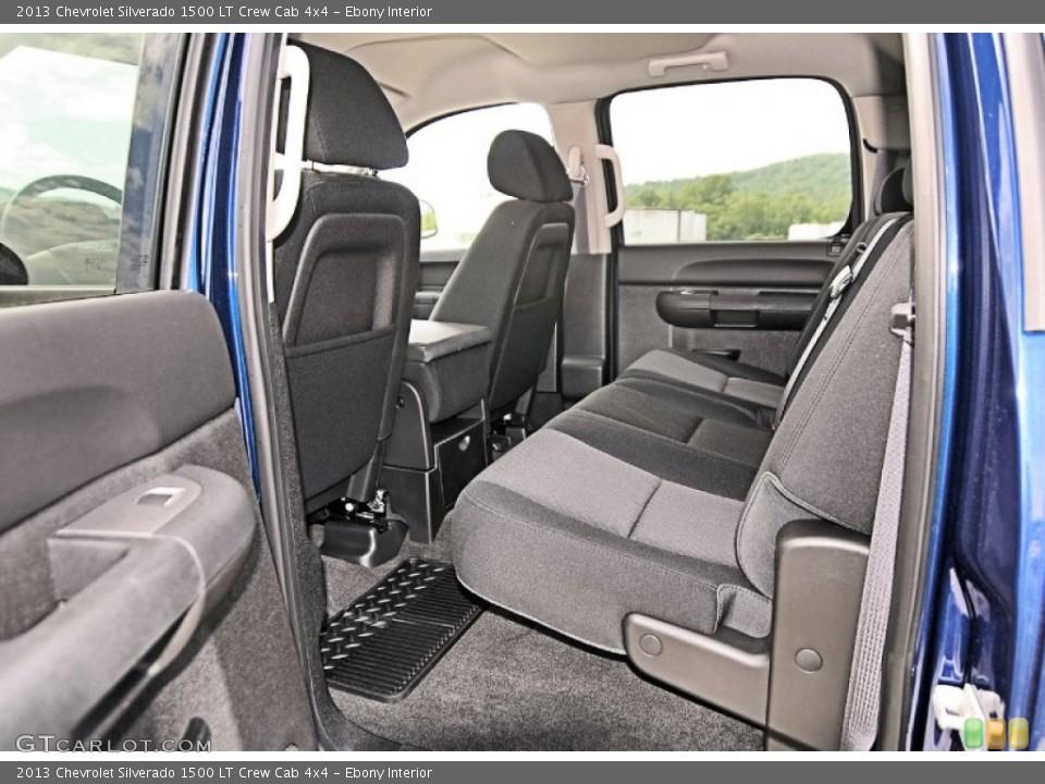 Ebony Interior Rear Seat for the 2013 Chevrolet Silverado 1500 LT Crew Cab 4x4 #81556487