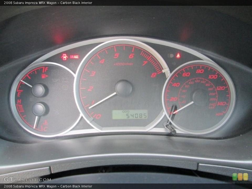 Carbon Black Interior Gauges for the 2008 Subaru Impreza WRX Wagon #81603307