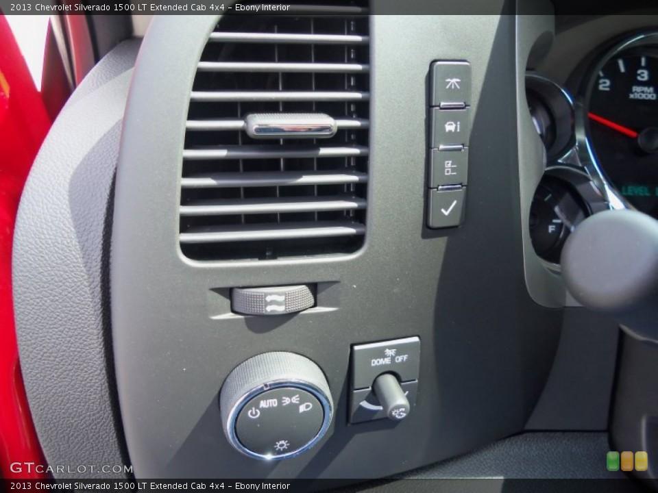 Ebony Interior Controls for the 2013 Chevrolet Silverado 1500 LT Extended Cab 4x4 #81774402