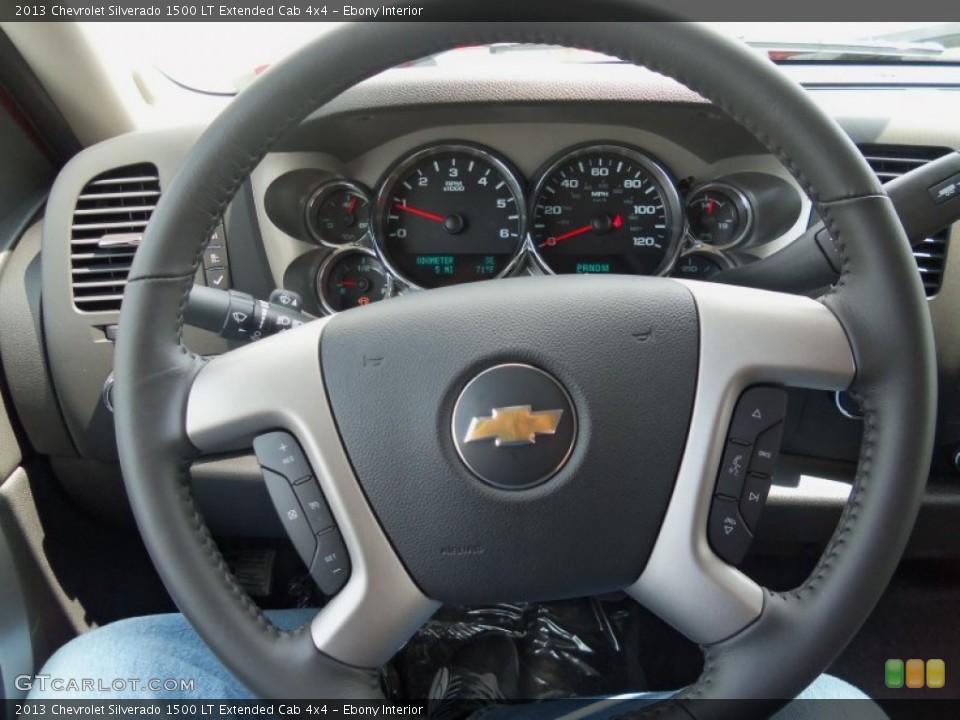 Ebony Interior Steering Wheel for the 2013 Chevrolet Silverado 1500 LT Extended Cab 4x4 #81774426