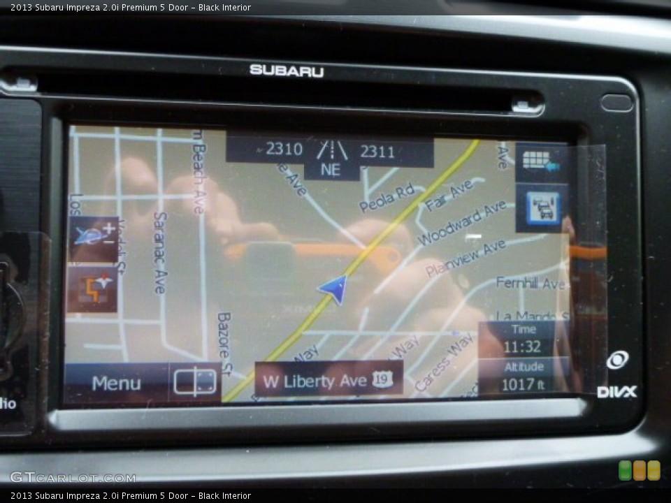 Black Interior Navigation for the 2013 Subaru Impreza 2.0i Premium 5 Door #81788737