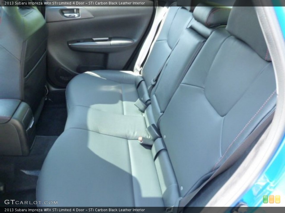 STi Carbon Black Leather Interior Rear Seat for the 2013 Subaru Impreza WRX STi Limited 4 Door #81789051