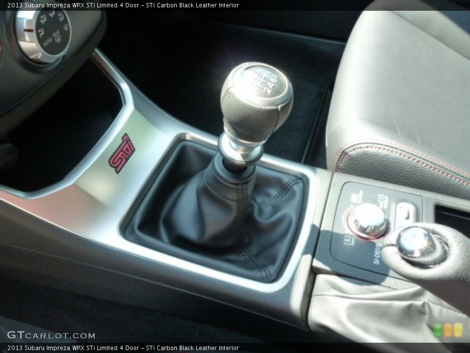 STi Carbon Black Leather Interior Transmission for the 2013 Subaru Impreza WRX STi Limited 4 Door #81789147