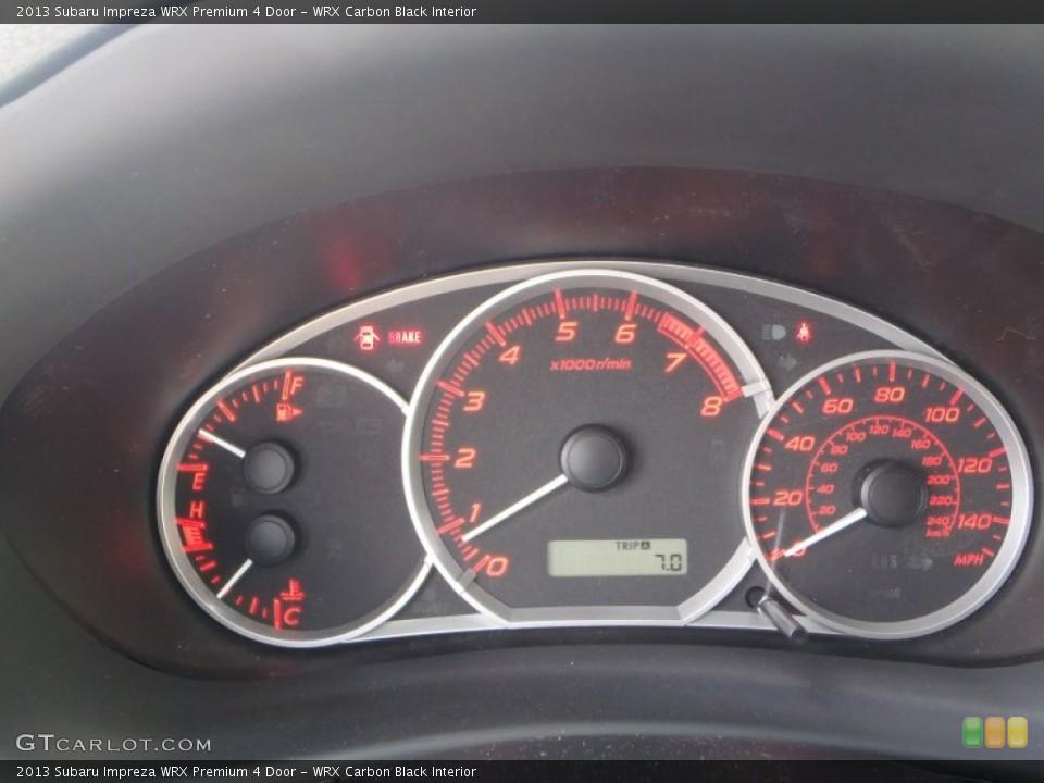 WRX Carbon Black Interior Gauges for the 2013 Subaru Impreza WRX Premium 4 Door #81811686
