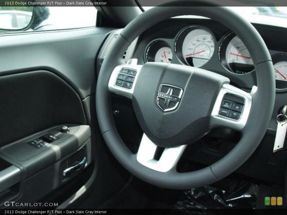 Dark Slate Gray Interior Steering Wheel for the 2013 Dodge Challenger R/T Plus #81909611