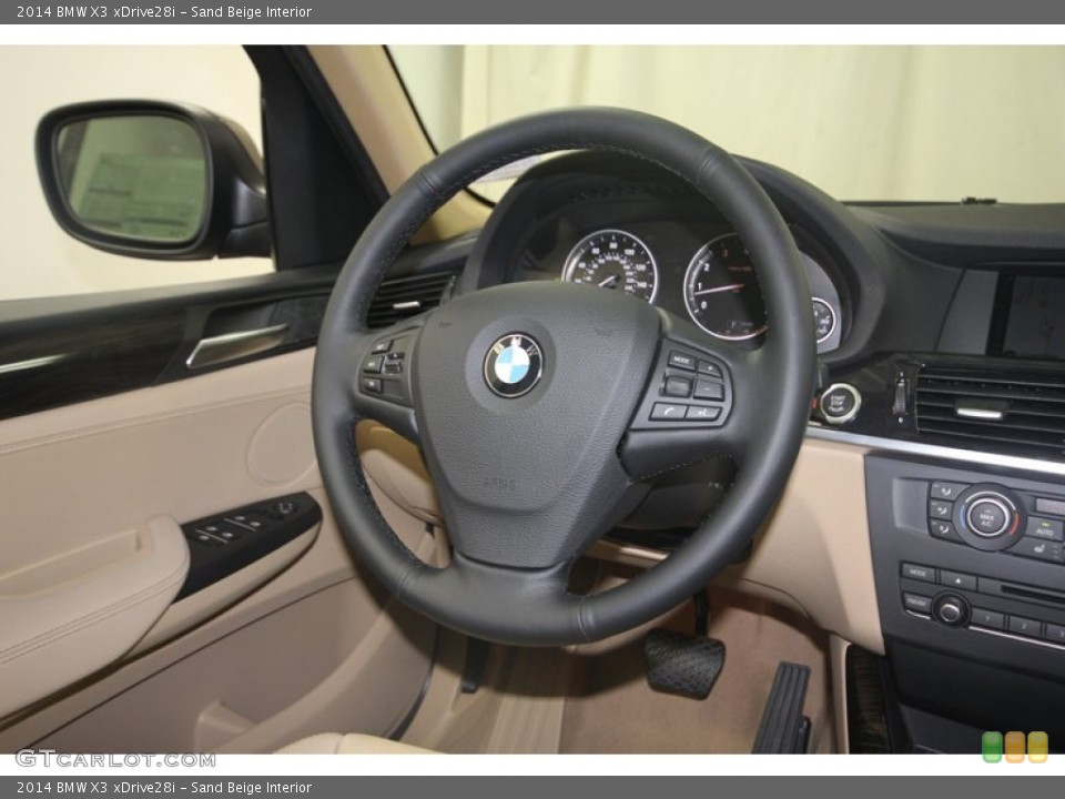 Sand Beige Interior Steering Wheel for the 2014 BMW X3 xDrive28i #81986203