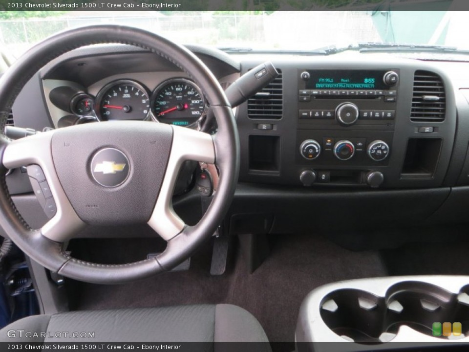 Ebony Interior Dashboard for the 2013 Chevrolet Silverado 1500 LT Crew Cab #82035953