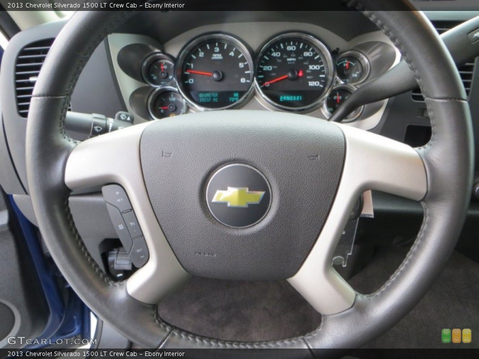 Ebony Interior Steering Wheel for the 2013 Chevrolet Silverado 1500 LT Crew Cab #82035992
