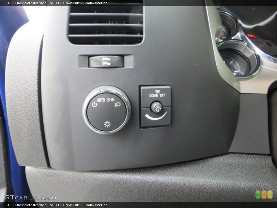 Ebony Interior Controls for the 2013 Chevrolet Silverado 1500 LT Crew Cab #82036019