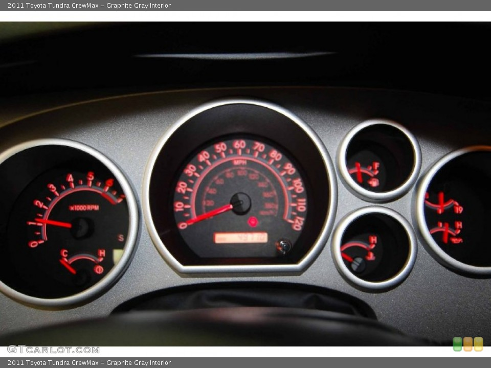 Graphite Gray Interior Gauges for the 2011 Toyota Tundra CrewMax #82090516