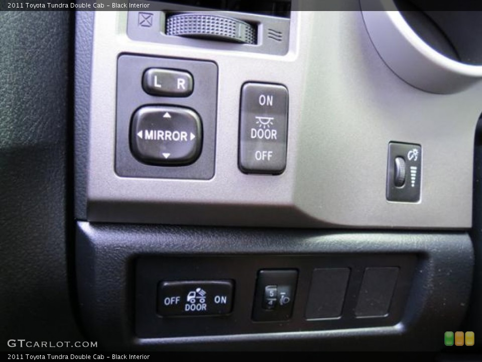Black Interior Controls for the 2011 Toyota Tundra Double Cab #82118797