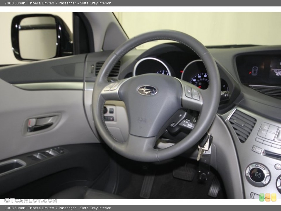 Slate Gray Interior Steering Wheel for the 2008 Subaru Tribeca Limited 7 Passenger #82148496