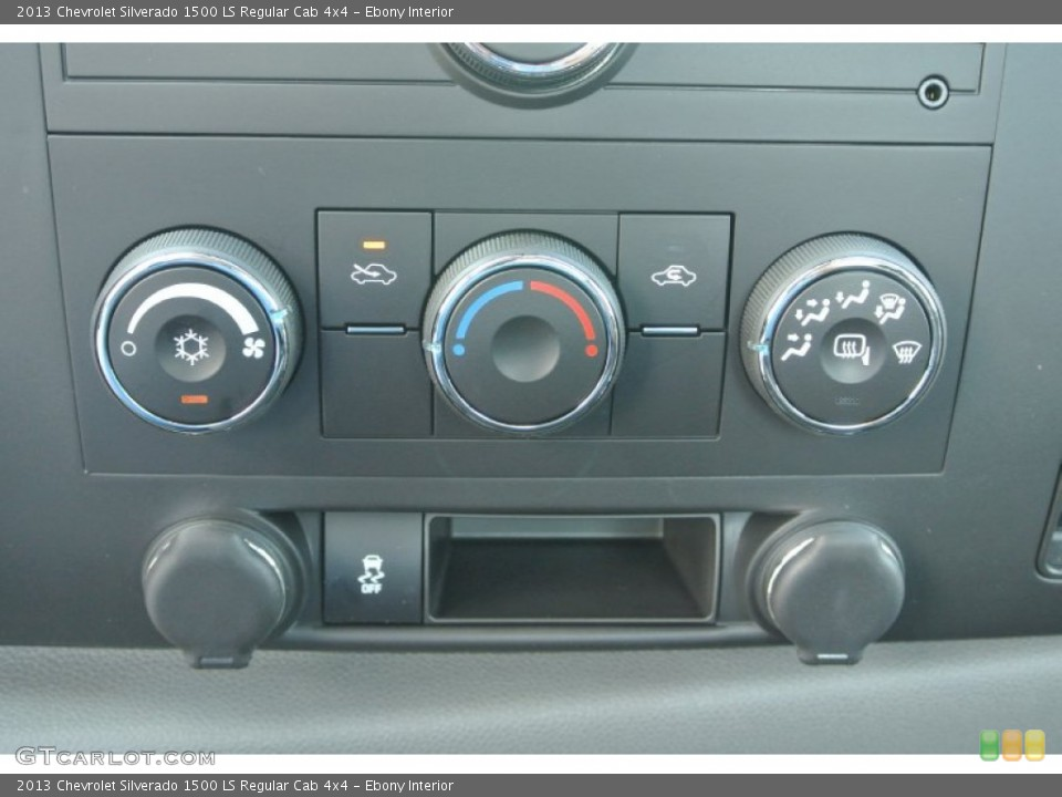 Ebony Interior Controls for the 2013 Chevrolet Silverado 1500 LS Regular Cab 4x4 #82235622
