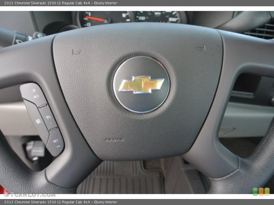 Ebony Interior Controls for the 2013 Chevrolet Silverado 1500 LS Regular Cab 4x4 #82235658