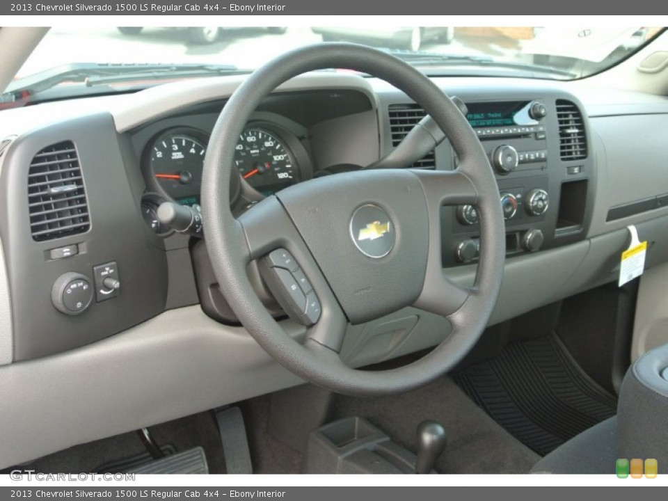 Ebony Interior Dashboard for the 2013 Chevrolet Silverado 1500 LS Regular Cab 4x4 #82235817