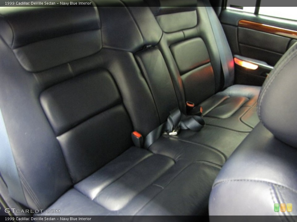 Navy Blue Interior Rear Seat For The 1999 Cadillac Deville