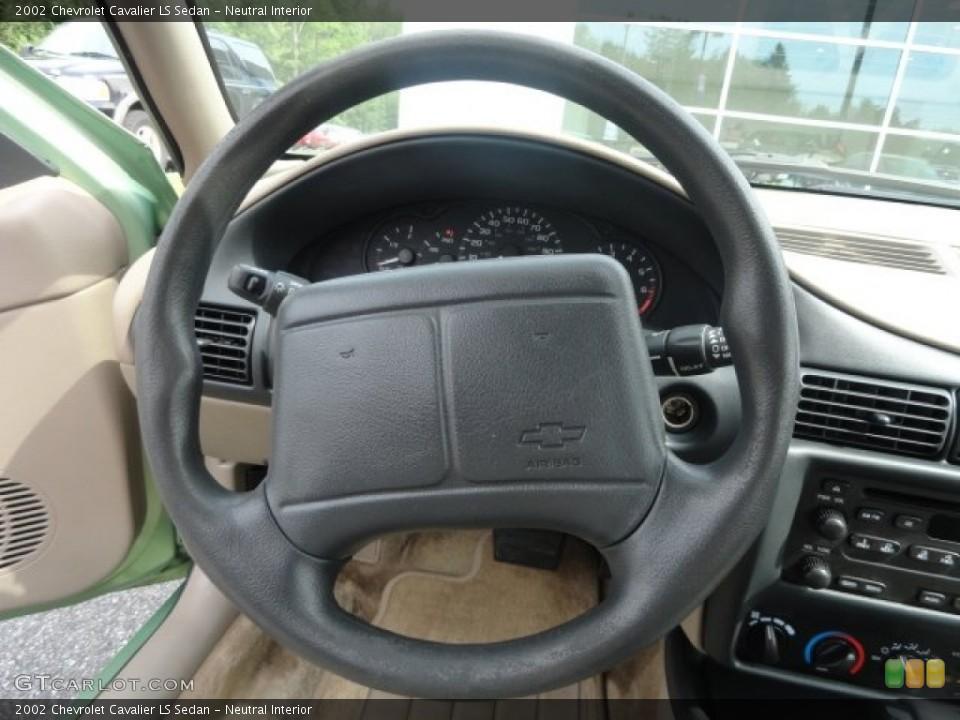 Neutral Interior Steering Wheel for the 2002 Chevrolet Cavalier LS Sedan #82267452