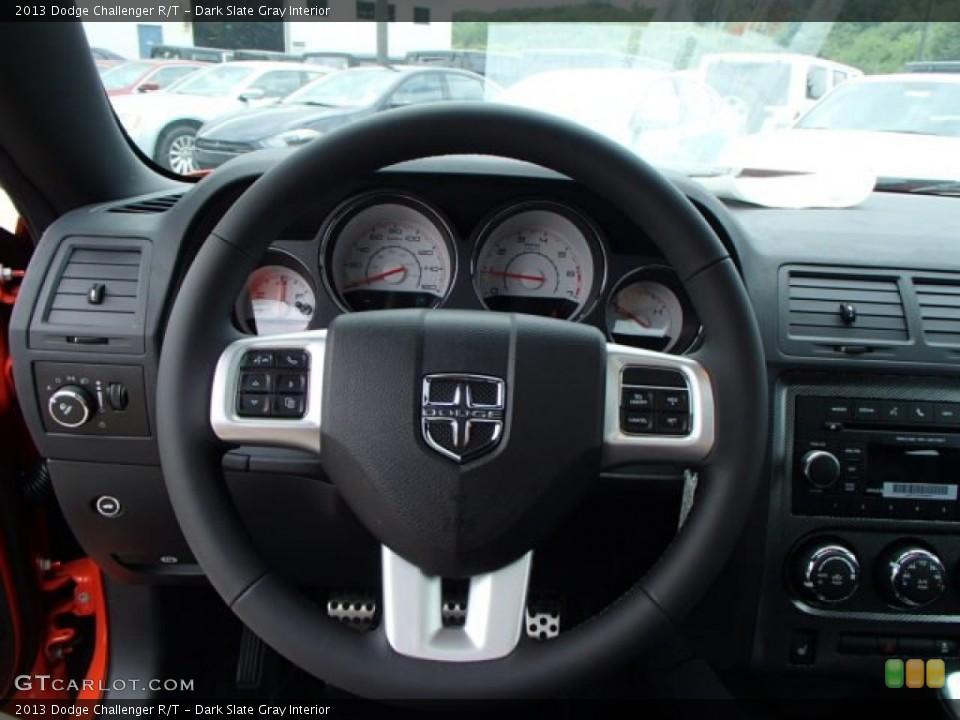 Dark Slate Gray Interior Steering Wheel for the 2013 Dodge Challenger R/T #82294115