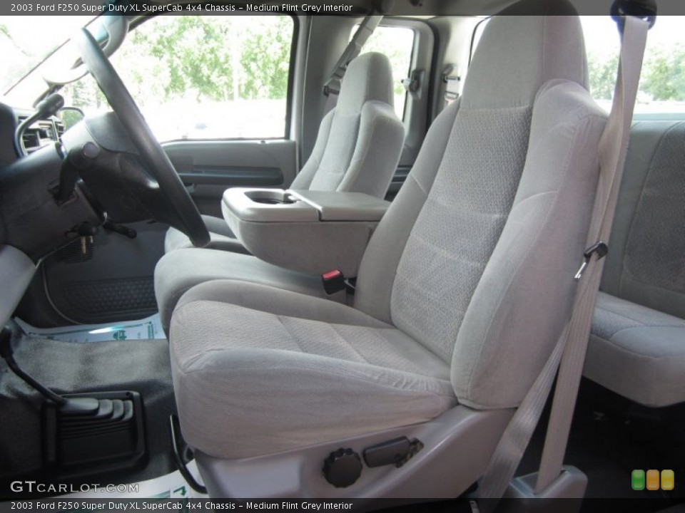 Medium Flint Grey Interior Front Seat for the 2003 Ford F250 Super Duty XL SuperCab 4x4 Chassis #82374333