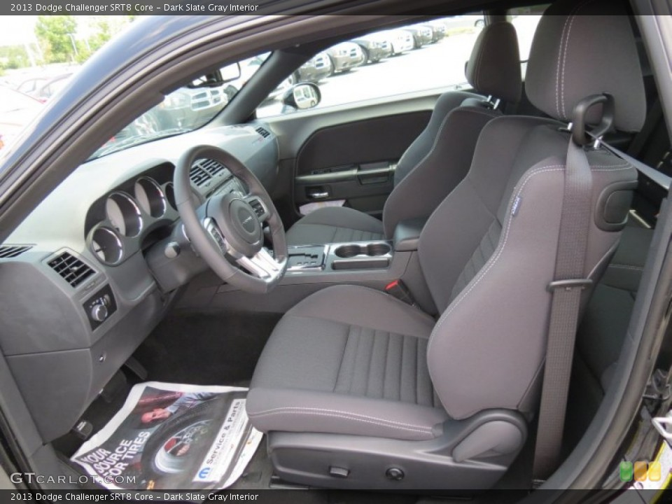 Dark Slate Gray Interior Photo for the 2013 Dodge Challenger SRT8 Core #82378610