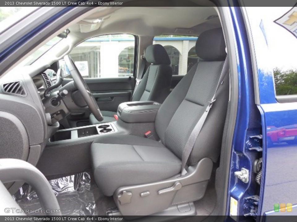 Ebony Interior Front Seat for the 2013 Chevrolet Silverado 1500 LT Crew Cab 4x4 #82401919