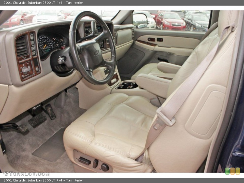 Tan 2001 Chevrolet Suburban Interiors