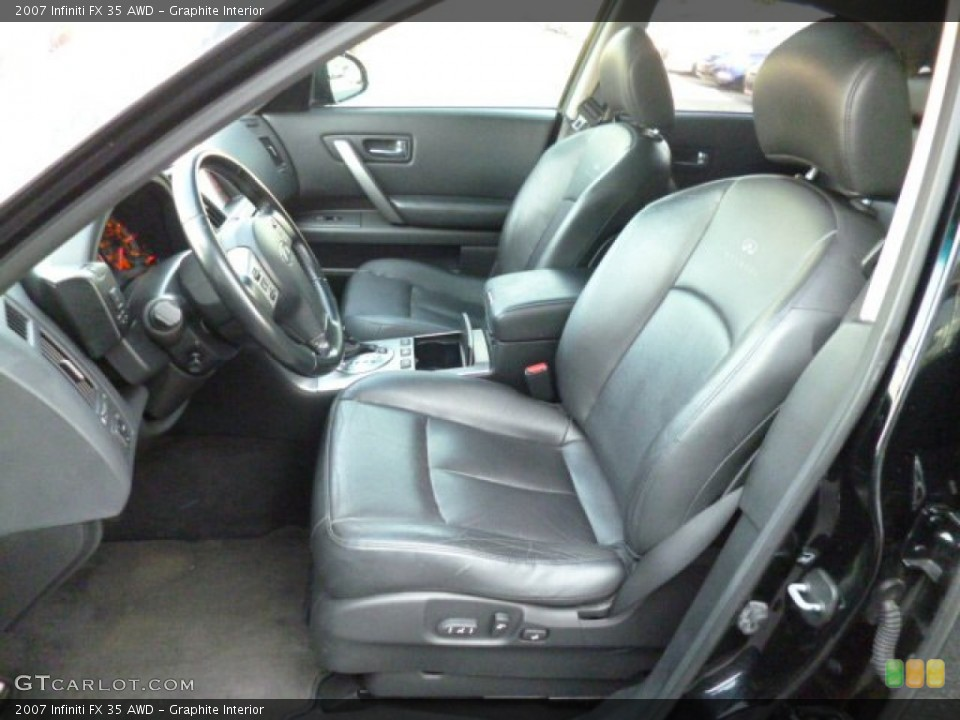 Graphite Interior Front Seat for the 2007 Infiniti FX 35 AWD #82417566
