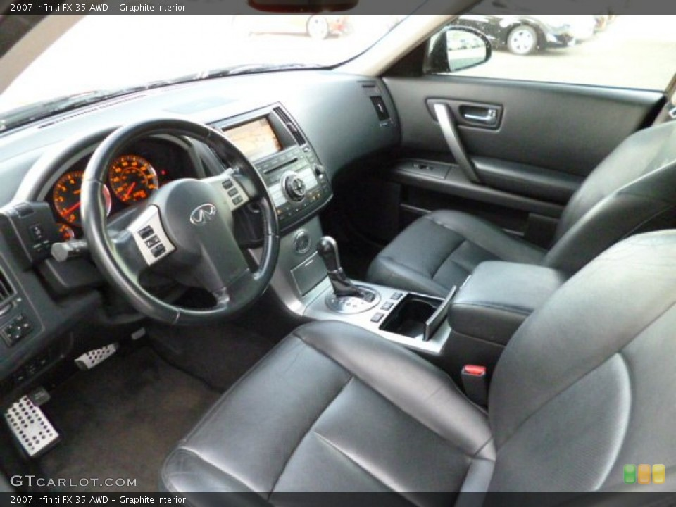 Graphite Interior Prime Interior for the 2007 Infiniti FX 35 AWD #82417590