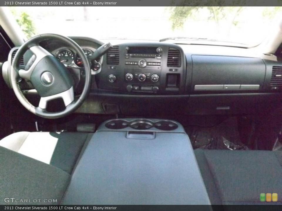 Ebony Interior Dashboard for the 2013 Chevrolet Silverado 1500 LT Crew Cab 4x4 #82477841
