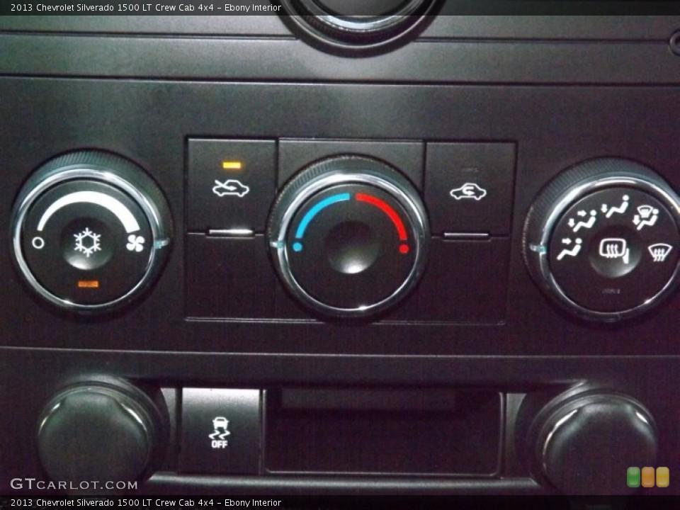 Ebony Interior Controls for the 2013 Chevrolet Silverado 1500 LT Crew Cab 4x4 #82477994
