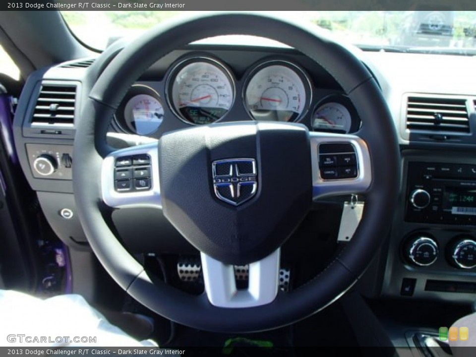 Dark Slate Gray Interior Steering Wheel for the 2013 Dodge Challenger R/T Classic #82486561