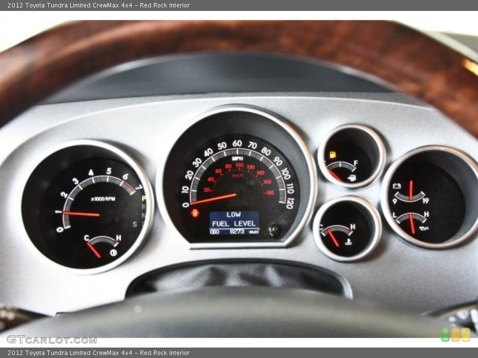 Red Rock Interior Gauges for the 2012 Toyota Tundra Limited CrewMax 4x4 #82516413