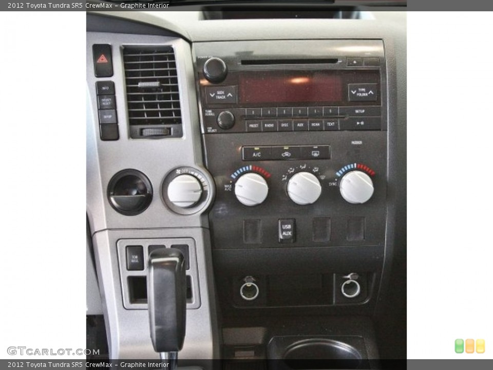 Graphite Interior Controls for the 2012 Toyota Tundra SR5 CrewMax #82519055