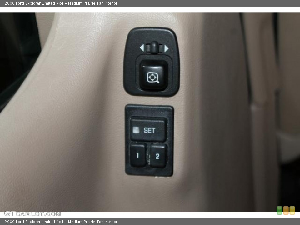 Medium Prairie Tan Interior Controls for the 2000 Ford Explorer Limited 4x4 #82544781