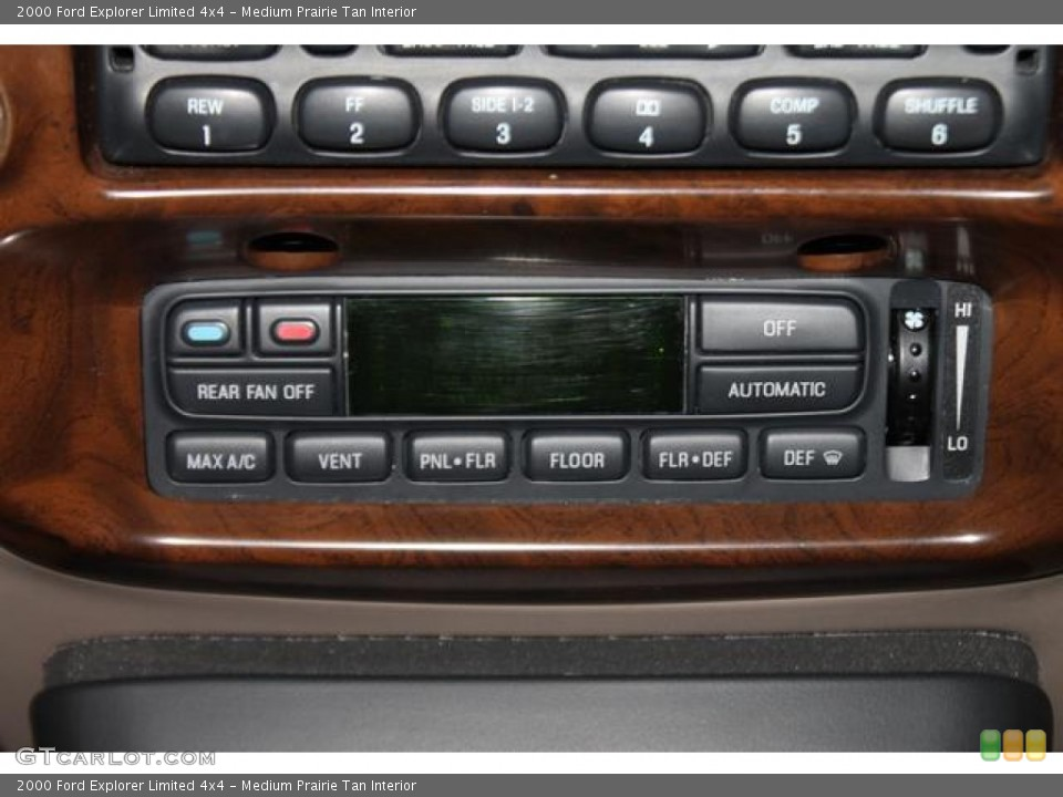 Medium Prairie Tan Interior Controls for the 2000 Ford Explorer Limited 4x4 #82544845