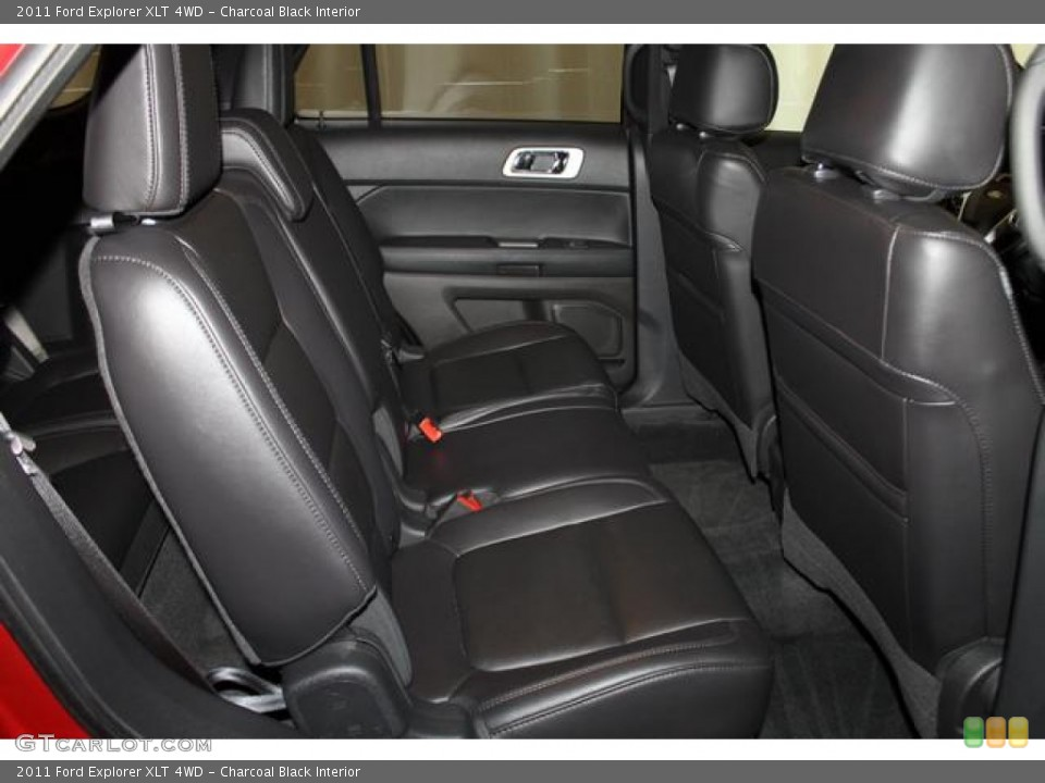 Charcoal Black Interior Rear Seat for the 2011 Ford Explorer XLT 4WD #82667173