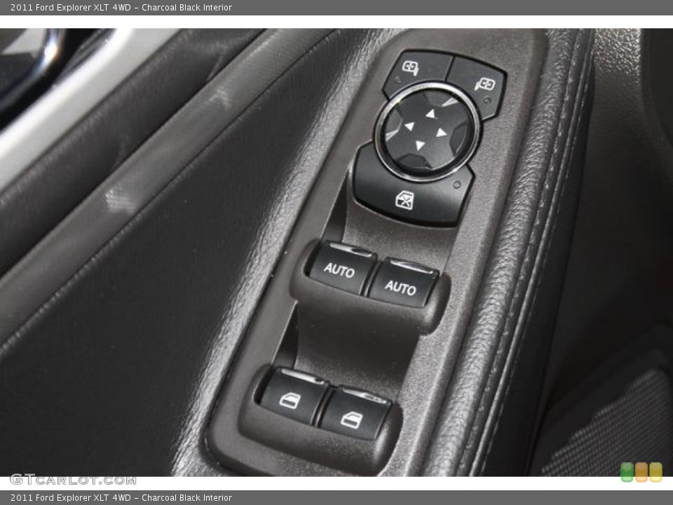 Charcoal Black Interior Controls for the 2011 Ford Explorer XLT 4WD #82667226