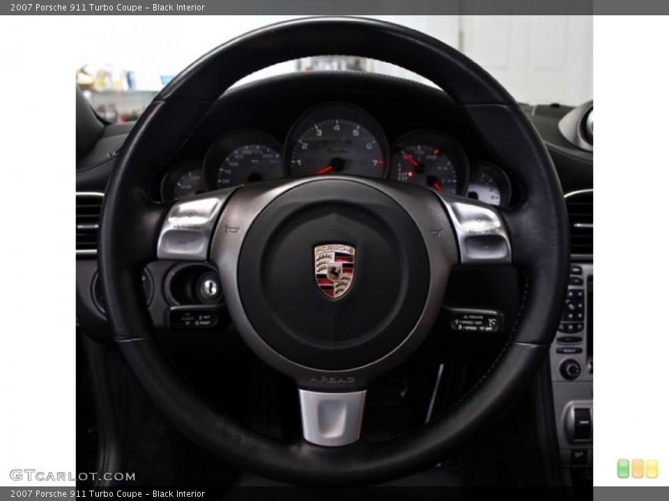 Black Interior Steering Wheel for the 2007 Porsche 911 Turbo Coupe #82777194